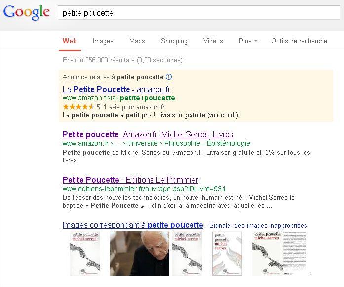 google-recherche-petite-poucette